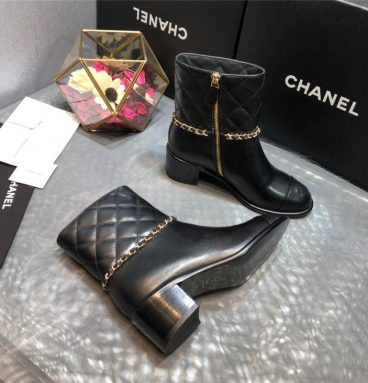 chanel black boots replica shoes