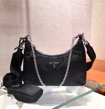 Prada Nylon Black Messenger Bag