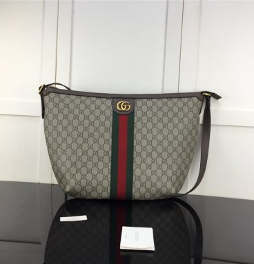 Brown Gucci Ophidia GG Shoulder Bag For Women