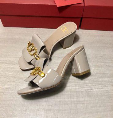 valentino block heel sandals
