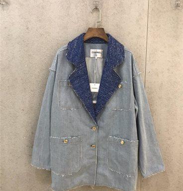 chanel jean jacket womens