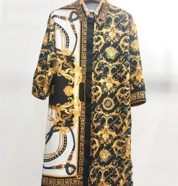 Versace belt print shirt skirt