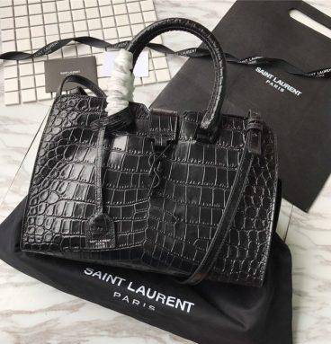 ysl crocodile handbag