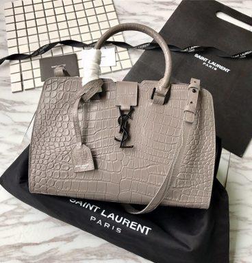 ysl crocodile handbag gray