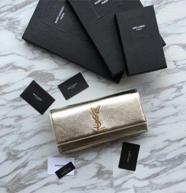 ysl clutch bag gold