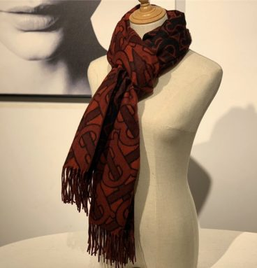 burberry cashmere shawl red
