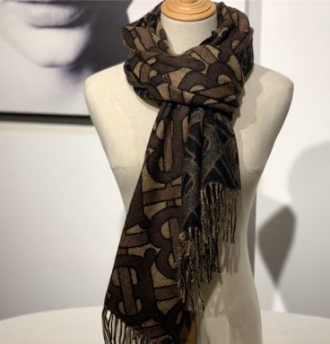 burberry cashmere shawl brown