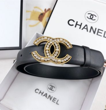 Chanel Leather Belt Buckle 30mm