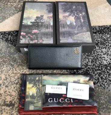 gucci mens wallet black