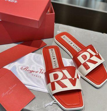 roger vivier sandals red