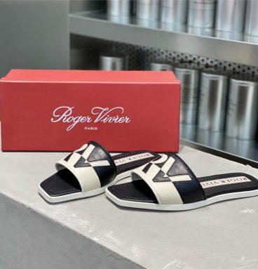 roger vivier sandals black
