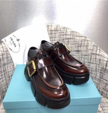 Prada Black Monolith shoes replica shoes