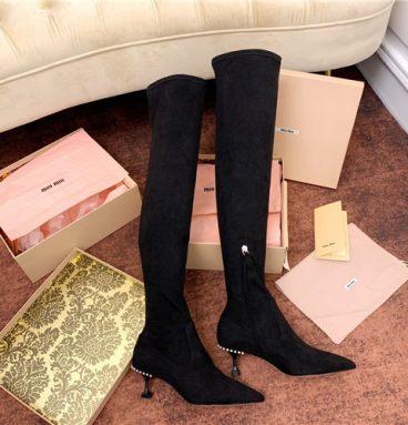 miu miu stretch boots replica shoes