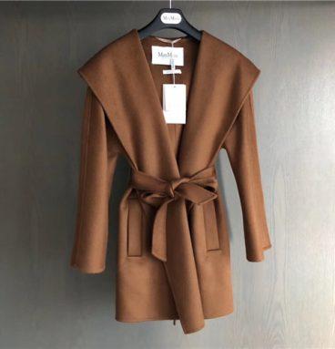 max mara short hooded coat