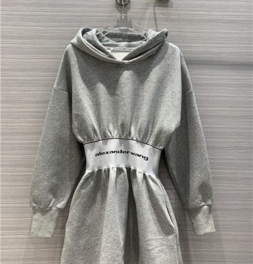 alexander wang hooded sweater dress