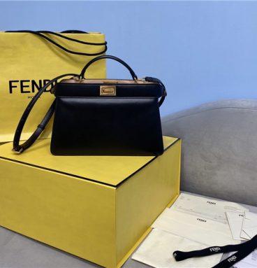 fend peekaboo medium bag black