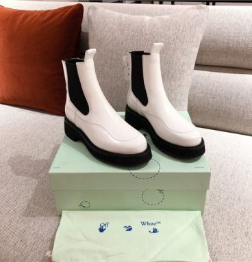 off white ankle boots