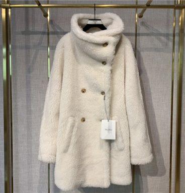max mara teddy bear coat white