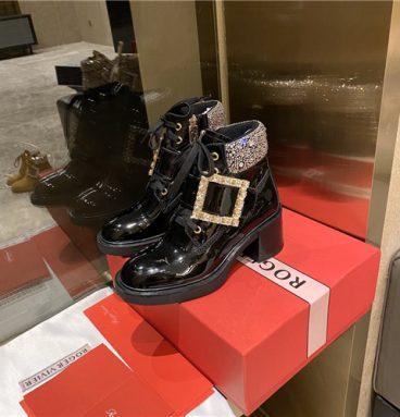roger vivier ankle boots black