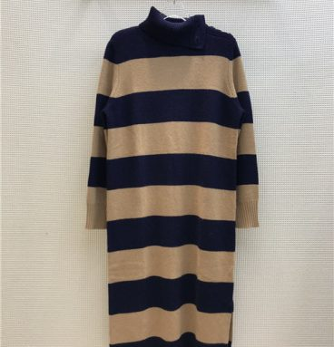 maxmara high neck cashmere dress