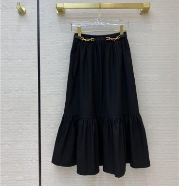 celine black skirt