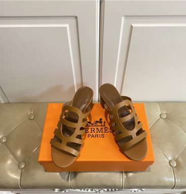 hermes block heel sandals