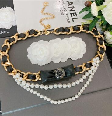 chanel camellia belt