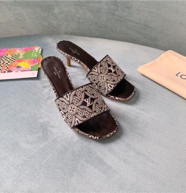 louis vuitton lv high heel slippers