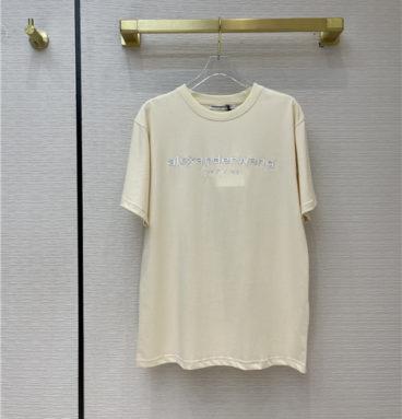 alexander wang logo t shirt