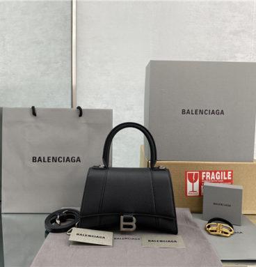 balenciaga hourglass bag black
