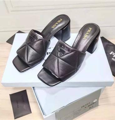 prada block heel sandals