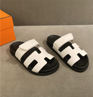 hermes h slippers women