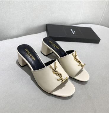 ysl block heel sandals