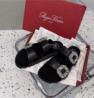 roger vivier diamond buckle slippers