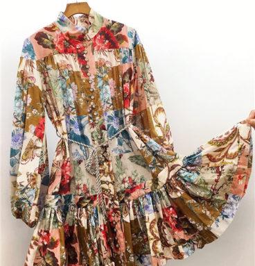 zimmermann print short dress
