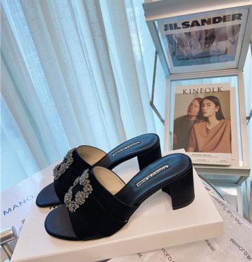 manolo blahnik heel slippers