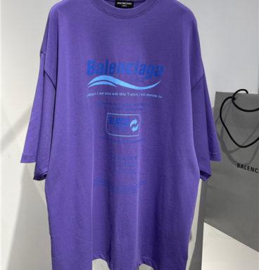 balenciaga purple t-shirt