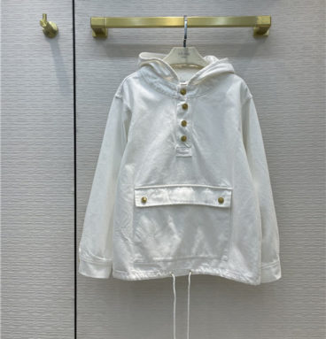 celine beige denim jacket