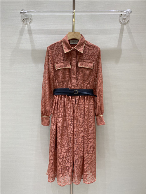 fendi lace jacquard dress