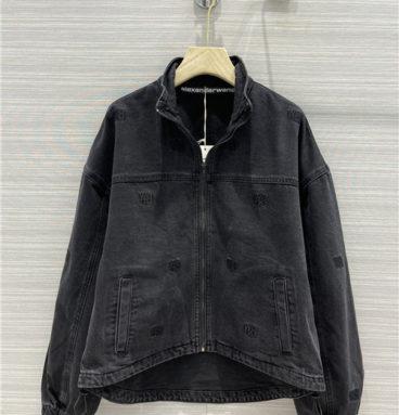 alexander wang logo denim jacket