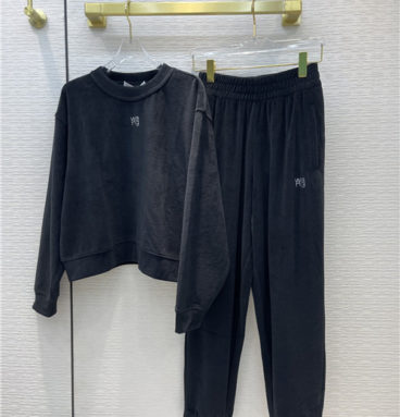 alexander wang velvet sports suit
