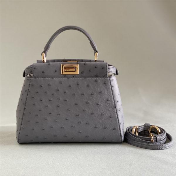 fendi ostrich leather peekaboo bag