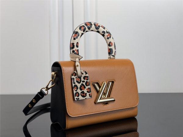 louis vuitton lv twist mm epi leather shoulder bag