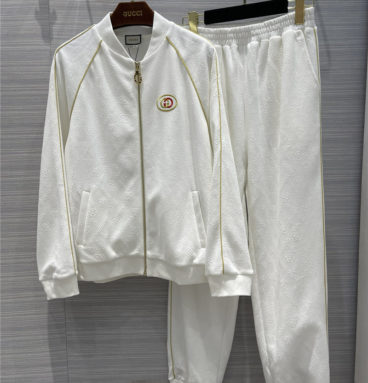 gucci white sports suit