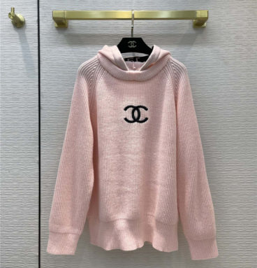 chanel hooded knitted sweater
