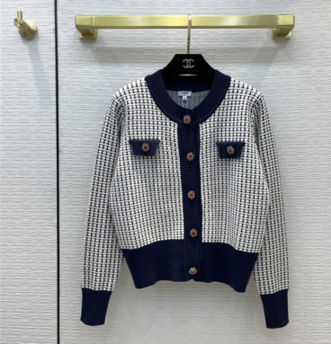 chanel metal wire jacquard knitted cardigan