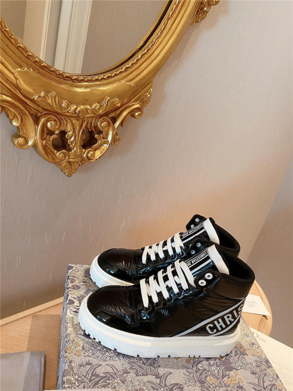 dior high-top warmth sneakers
