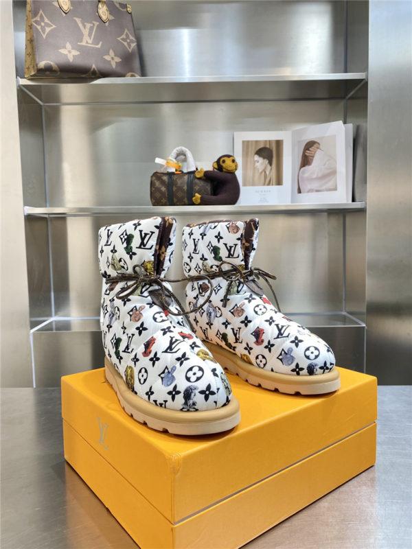louis vuitton lv down snow boots