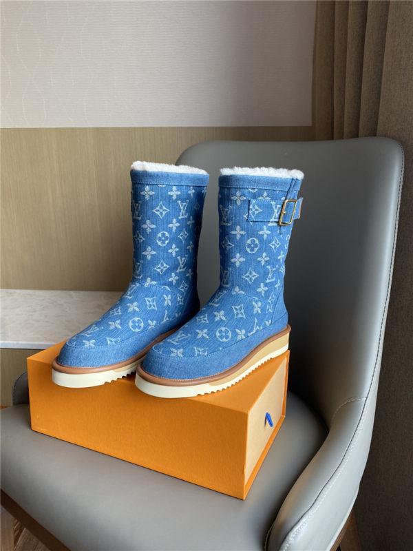 louis vuitton lv denim snow long boots