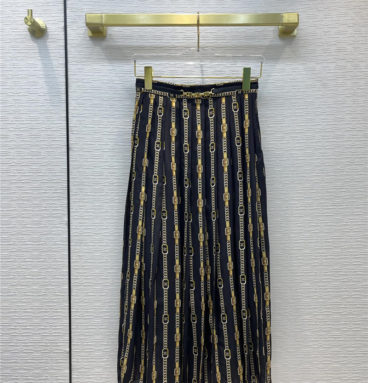 celine horsebit silk skirt